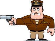 Karikatur-Kapitän Gun Stockfoto