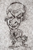 Karikatur - Karikatur-Geschäftsmänner Stockfoto