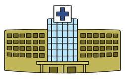 Karikatur-Krankenhaus Stockbild