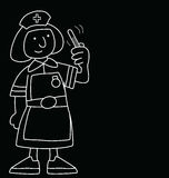 Karikatur-Krankenschwester Stockbild