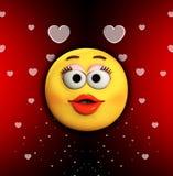Karikatur-Kuss der Liebe Lizenzfreie Stockfotografie