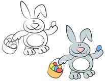 Karikatur-lächelnde Osterhasen-Kaninchen lizenzfreie abbildung