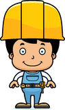 Karikatur-lächelnder Bauarbeiter Boy Lizenzfreies Stockfoto