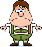 Karikatur Lederhosen-Junge traurig Lizenzfreie Stockbilder
