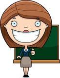 Karikatur-Lehrer Thumbs Up Lizenzfreie Stockfotos