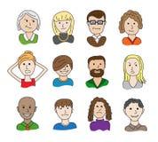 Karikatur-Leute-Satz Stock Abbildung
