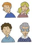 Karikatur-Leute schließen oben Lizenzfreies Stockfoto