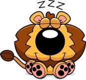 Karikatur Lion Cub Napping Lizenzfreies Stockfoto