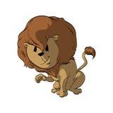 Karikatur Lion Illustration Stockfoto