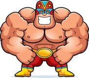 Karikatur Luchador Biegen Lizenzfreie Stockfotos