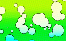 Karikatur-Luftblasen-Hintergrund Stockfoto