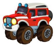 Karikatur lustig weg vom Straßenlöschfahrzeug/-fahrzeug vektor abbildung
