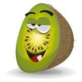 Karikatur lustiger Kiwi Character lizenzfreie abbildung