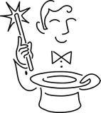 Karikatur-Magier Stockfoto
