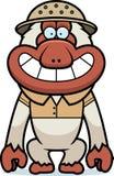 Karikatur-Makaken-Safari Stockfotografie