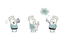 Karikatur-Mann-Zeichensatz Lizenzfreie Stockfotografie