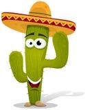 Karikatur-mexikanisches Kaktus-Zeichen Lizenzfreies Stockbild
