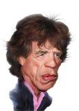 Karikatur Mick-Jagger stock abbildung