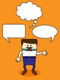 Karikatur mit Spracheblase Lizenzfreie Stockfotografie