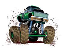 Karikatur-Monstertruck Stockbild