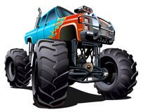 Karikatur-Monstertruck Lizenzfreie Stockbilder