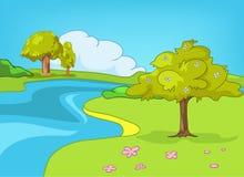 Karikatur-Natur-Landschaft Stockfoto