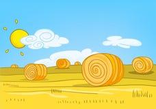 Karikatur-Natur-Landschaft Lizenzfreies Stockfoto