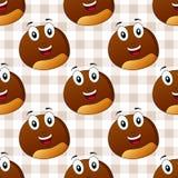 Karikatur-nette Kastanien-nahtloses Muster Stockfoto