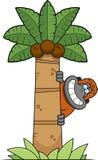 Karikatur-Orang-Utan Baum stock abbildung