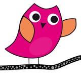 Karikatur Owl On eine Niederlassung stock abbildung