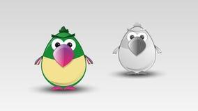 Karikatur-Papagei im Vektor Lizenzfreie Stockbilder