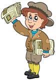 Karikatur paperman Lizenzfreie Stockfotografie