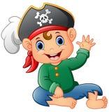 Karikatur-Piraten-Wellenartig bewegen Stockfotografie