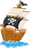 Karikatur-Piratenschiff vektor abbildung