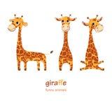 Karikatur polar mit Herzen giraffen Stockfotografie