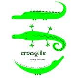 Karikatur polar mit Herzen krokodile Stockbild