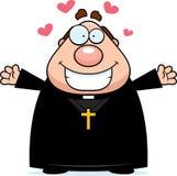 Karikatur-Priester Hug Lizenzfreies Stockfoto
