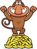 Karikatur-Proboscis-Bananen Stockfoto