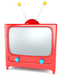 Karikatur redete Fernsehapparat an Lizenzfreie Stockbilder