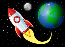 Karikatur Rocket Stockfotografie