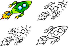 Karikatur Rocket Auch im corel abgehobenen Betrag Farbton und Punkt, zum von gam zu punktieren vektor abbildung
