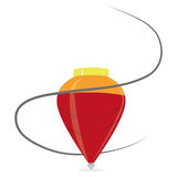 Karikatur-rote Drehbeschleunigung lokalisiert auf weißem Hintergrund Lizenzfreies Stockbild