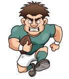 Karikatur-Rugbyspieler Lizenzfreie Stockfotografie