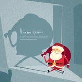 Karikatur-Santa Claus Happy New Year Merry-Weihnachten Stockbild