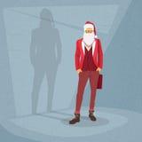 Karikatur Santa Claus Hipster Style Fashion Lizenzfreies Stockbild