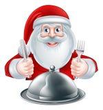 Karikatur Santa Dinner Stockfotos