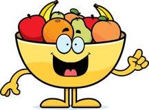 Karikatur-Schüssel der Frucht-Idee Lizenzfreie Stockfotos