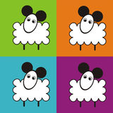 Karikatur-Schafe Stockbilder