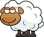 Karikatur-Schafe ermüdet Stockfoto