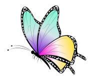 Karikatur-Schmetterlings-Clipart lizenzfreies stockfoto